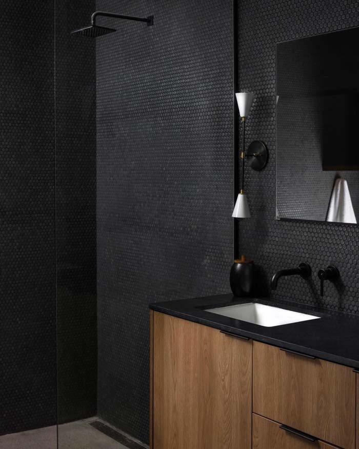 zwarte badkamer kraan douche