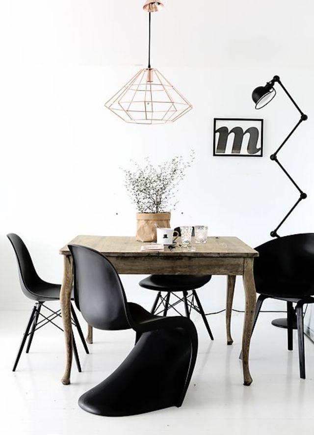 10x Zwarte design eetkamerstoelen | HOMEASE