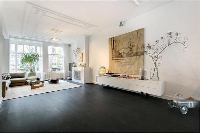 Mooi karakteristiek appartement uit amsterdam op funda homease - Badkamer zwarte vloer ...