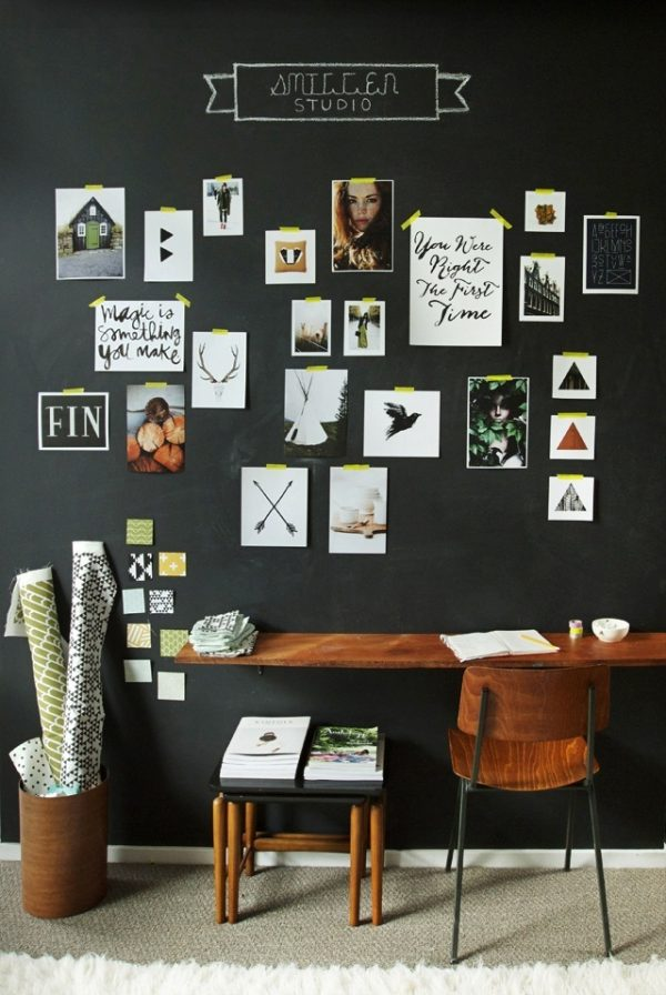 Zwarte muur collage