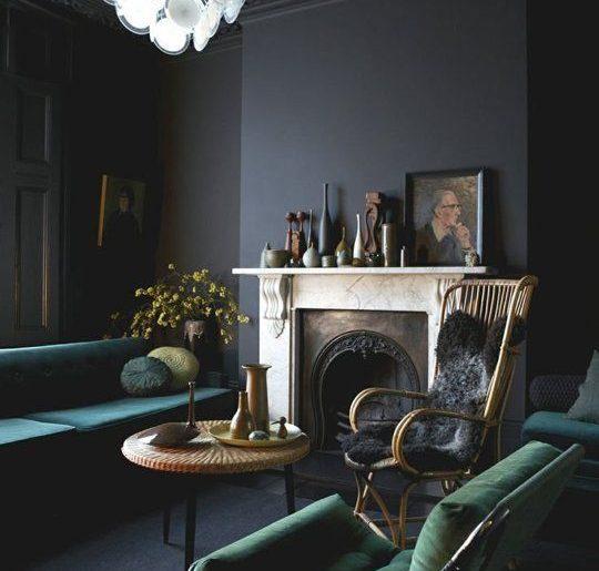 Natuursteen muur woonkamer grijze inspiratie het beste interieur - Zwarte muur in de woonkamer ...