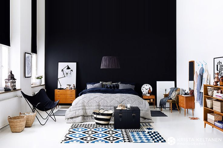 Grijze Muur Ideeen : Black Bedroom Walls