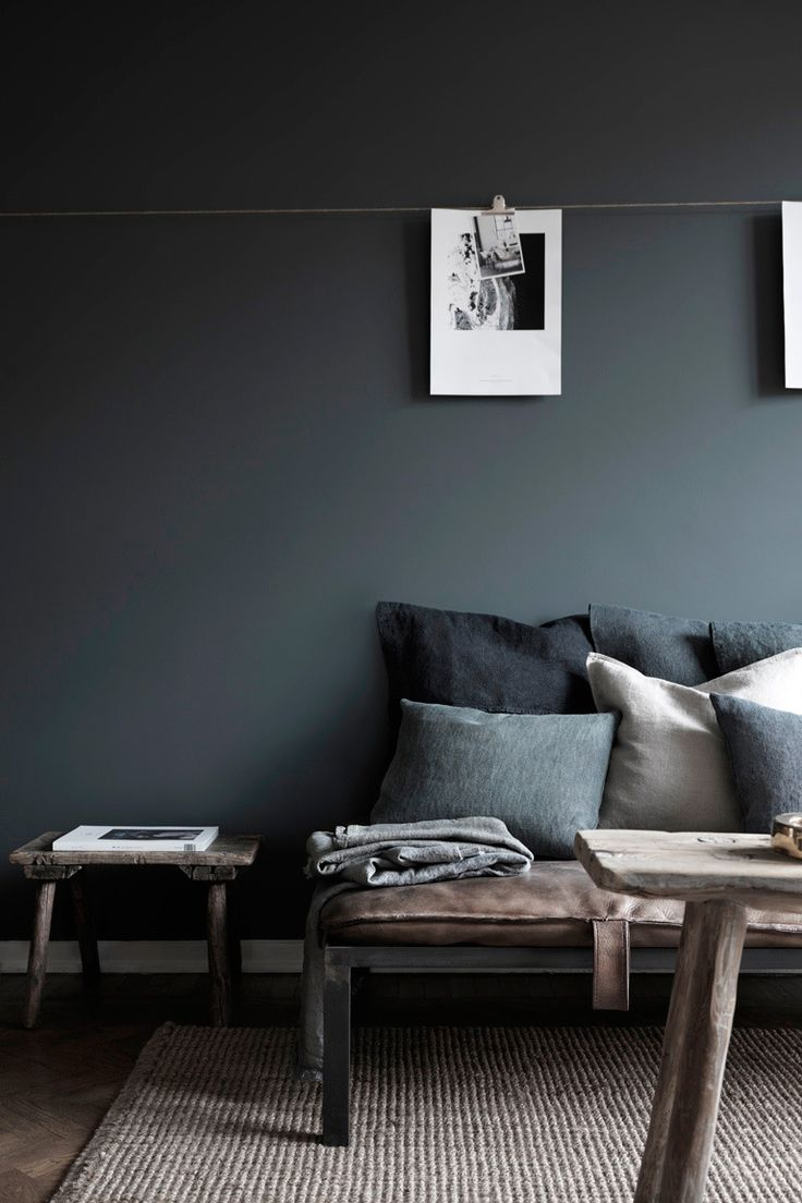 Zwarte muur inspiratie homease for Black grey interior design