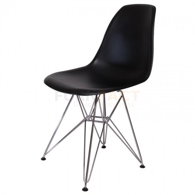 10x zwarte design eetkamerstoelen homease for Design eetkamerstoelen eames