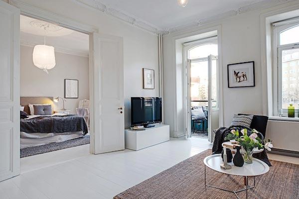 Authentieke Details Woonkamer : Zweedse slaapkamer met authentieke details homease