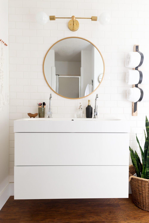 zwevende badkamermeubel wit